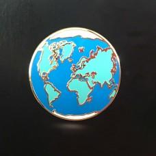 Planet Earth Enamel Pin by Wm Spear Design