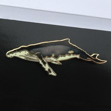 Humpback Whale Enamel Pin by Wm Spear Design