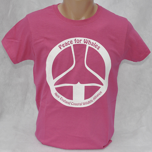 f5a59512 Peace For Whales t-shirt - Heliconia Pink - short-sleeved Ladies