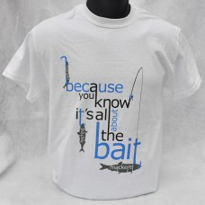 All About That Bait T-shirt - White - short-sleeved Unisex
