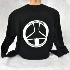 Peace For Whales long-sleeved - Black - t-shirt Unisex