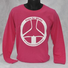Peace For Whales long-sleeved - Heliconia Pink - t-shirt Ladies