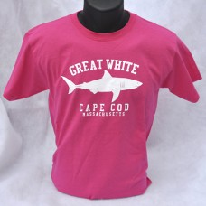 Great White Shark t-shirt - Heliconia Pink - short-sleeved Youth