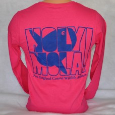 Holy Mola t-shirt - Heliconia Pink - long-sleeved Ladies