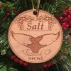 Salt, the Humpback Whale, Holiday Ornament - wood